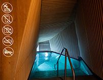 Zurich Thermal Bath & Spa signage system
