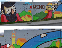 Breno, full wall