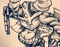 Warrior girl sketches