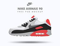 NIKE Airmax 90 FREE PSD MOCKUP