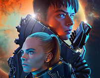 Valerian illustrations for Fubiz