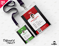 Office Identity Card Design Template PSD Bundle