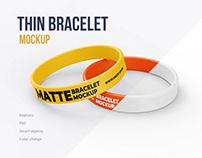 Thin Bracelet Mockup 4 PSD