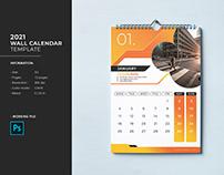 Wall Calendar Template 2021