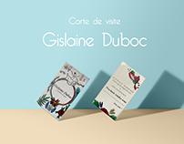 Carte de visite de Gislaine Duboc