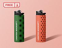 Free Lighter Mockup