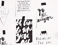type postcards series