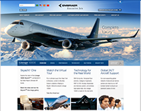 Embraer Executive Jets - UI Elements, Landing Pages