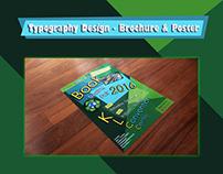 Typography Design - Brochure & Poster