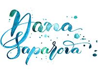 Logo for photographer Dana Saparova