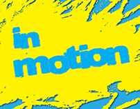 In Motion logo and flyer