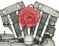 The 1963's XLCH Harley-Davidson : Iron & Rose Carb
