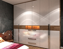 #furniture design #wardrobe #residential project