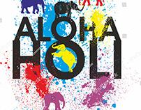ALOHA HOLI VECTOR ART