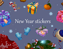 New year stickers)