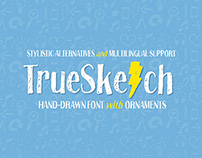 TrueSketch Hand-Drawn Font With Ornaments