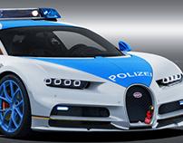 Bugatti Chiron Polizei