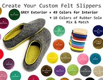490 Combinations -Design Your Own Perfect Felt Slippers