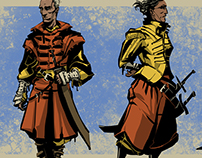 Character Sketches - Swashbuckling fellows