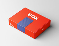 Rectangle Box Mockup with Tape