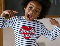 PRIMARK Girls- Trouble maker print