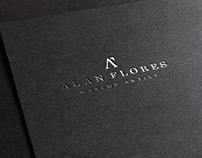 Alan Flores Makeup Artist Logotype