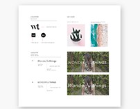 Wonderful Things / Logo Design + Style Guide