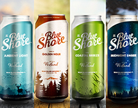 Blue Shore Beer Labels