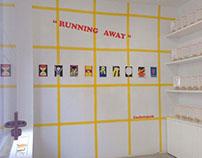 RUNNING AWAY, exhibition