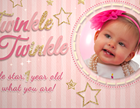Twinkle Twinkle Birthday Video Invitation