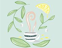Afternoon tea - digital illustration