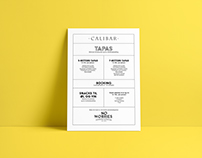 Menu // Tapas Calibar