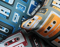 Retro cassette pillow design