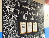Mural en International Christian School of Lima
