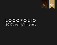 Logofolio 2017, vol. 1 / line art
