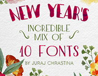 NEW YEAR'S Incredible Mix of Fonts