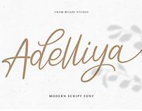 FREE FONT // Adelliya Script