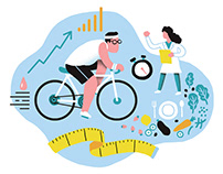 AARP / Spot Illustrations About Managing Diabetes