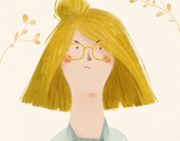 Half-bun Girl