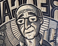 """Woodcut. Immigrants Project """"Spain"""""""