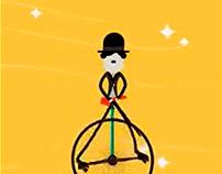 ANIMACIÓN FLAT Personificación de Chaplin