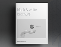 Black and White Lifestyle Brochure