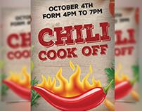 Chili cook off flyer Design