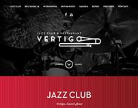 Projekt strony www dla klubu vertigojazz.pl