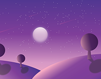 Illustration scenery for startup web pages