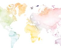 Weltkarte Glamour