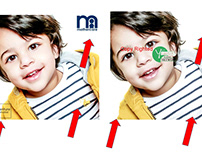 logo removed || Photo retouching