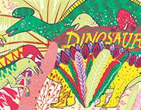 Dinosaurs - Silkscreen Leporello