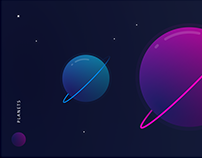 Planets - Graphic design Gradients