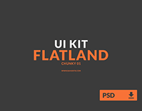 UI Kit - Flatland (Chunky 01) - Free PSD